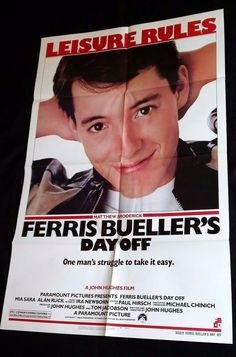 FERRIS BUELLER'S DAY OFF 1986 Movie Poster 27x41 #MoviePoster #JohnHughes