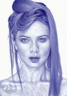 19 portraits photoréalistes réalisés uniquement au stylo à bille  Dessein de dessin