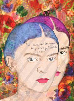 8 Frida Kahlo Digital Collage Instant Download Two