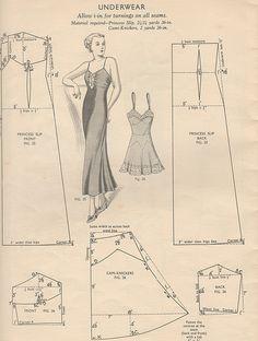 Slip night dress pattern