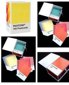 The 100 pcs Pantone Postcard Box.