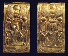 Photo 8. Details of a cosmetic box Tutankhamun. Picture in Picture in H. Stierlin, L'or des pharaohs, Paris, 1993, p. 50.
