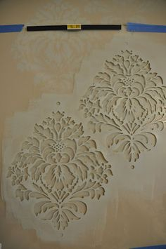 Stencil cutouts can be effectively used in designing pottery, boxes. lampshades or even walls