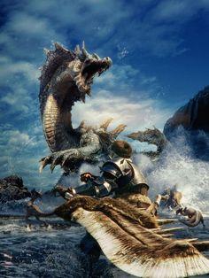 Fonds d'écran Jeux Vidéo > Fonds d'écran Monster Hunter saga monster hunter par lwolf97 - Hebus.com