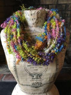 Handspun Yarn Art Yarn Bulky Lockspun Mohair by RainbowTwistShop
