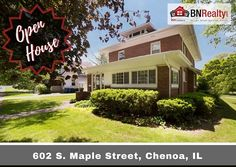 -->> OPEN HOUSE <<-- When: Saturday, September 30 from 10:00 am to 12:00 pm Where: 602 Maple St. Chenoa, IL 5 Bedrooms / 2.5 Bath *Features: Beautiful, updated all-brick, two story home in Chenoa, IL. This well-maintained home boasts historic character including original woodwork, large rooms, 9 Ft. ceilings throughout, and beautiful hardwood floors. There have been many updates completed within the last ten years. Just a few of the updates include: new roof on house (2009) and garage…