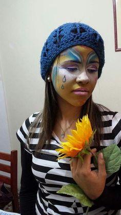Maquiagem com clown make up inspiração cirque du soleil