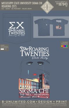 Sigma Chi Roaring 20's Date Party Shirt | Fraternity Event | Greek Event #sigmachi #machi #sx Sigma Chi, Bid Day Themes, Mississippi State, Roaring 20s, Greek Life, Mixers, Party Shirts, Fraternity, The Twenties