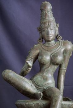 Parvati, Chola Bronze, Tamil Nadu (Saraswati Mahal Art Gallery, Thanjavur). The bronzes of the early Chola period are among the masterpieces of the art of India.