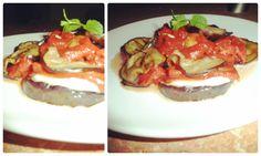 Zdravý obed :)  grilovaný baklažán, paradajky, mozzarella :)