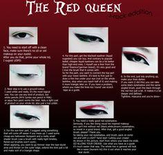 RED QUEEN. Makeup Tutorial. by ~oGuren on deviantART