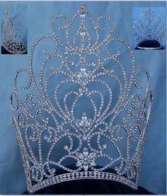 Rhinestone Miss Beauty Queen Pageant Crown Tiara - CrownDesigners
