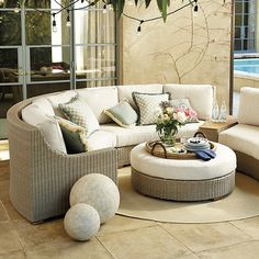 Navio Sectional with Cushions Outdoor Furniture Covers, Deck Furniture, Living Room Furniture, Furniture Design, Rattan Furniture, Furniture Vintage, Furniture Layout, Rustic Furniture, Modern Furniture