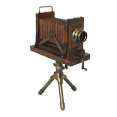 Vintage Wooden Extension Camera with Tripod | Overstock™ Shopping - Great Deals on Accent Pieces $94.99 wood and brass