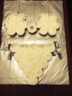 Lingerie Shower pull apart cupcake cake. Lingerie Cupcakes, Lingerie Party, Pull Apart Cupcake Cake, Cupcake Cakes, Sexy Cakes, My Bridal Shower, Eat, Birthday, Wedding