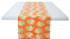 zinnia table runner by rock flower paper