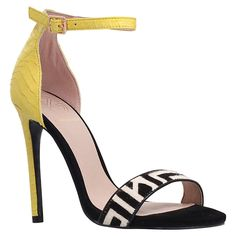 Buy KG by Kurt Geiger Joy Pony Barely There High Heel Sandals, Yellow   John Lewis
