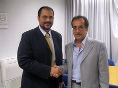 Girolamo Calsabianca (Presidente ANIO) e Giovanni Asaro (Vicario Pres. Reg. INAIL Sicilia) Accordo ANIO - INAIL http://www.anio.it