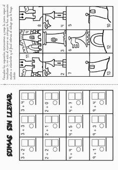 Lernübungen für kinder zu drucken. Funny Addition Spanisch zu lernen 7