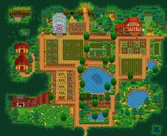 Stardew Valley is an open-ended country-life RPG with support for players. Stardew Farms, Stardew Valley Farms, Game Boy, Stardew Valley Layout, Stardew Valley Tips, Farm Layout, Animal Crossing Pocket Camp, Valley Girls, Horse Farms