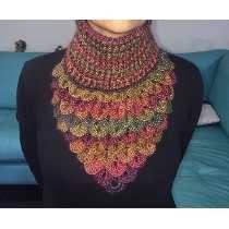 Cuello Bufanda Hecho A Mano Tejido Crochet