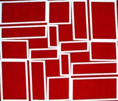 Helio Oiticica: Vermelho cortando o branco, 1958, oil on canvas