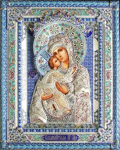 Finift or Enamel – an ancient decorative craft in Russia Religious Images, Religious Icons, Religious Art, Orthodox Catholic, Russian Orthodox, Religious Paintings, Russian Icons, Madonna And Child, Blessed Virgin Mary