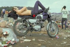 sleeping on a motorcycle, Woodstock