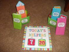 The Wise & Witty Teacher: I will make this helper chart with my student's pictures on a flip ring!