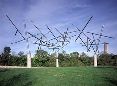 Triple Crown, 1991, Kenneth Snelson stainless steel tubes in tension
