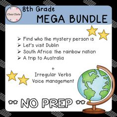 Mystery PersonEngage your students right from the beginning of the school year !!Group work encouraged8 different steps to revise while trying to find who the mystery person is :- basic questions- nationalities- place & date of birth- hobbies- family- understanding directionsWritten production ,oral and reading comprehension activities.Printer friendly: most pages come in black and white.Teacher's notes (2 pages) and answer key provided for most activities.DUBLINLet's visit Dublin !