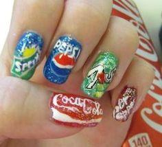 Sprite/Pepsi/7Up/Dr. Pepper/Coca-Cola Nails