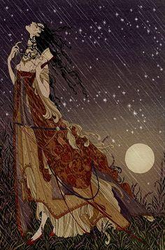 Кейт Baylay.  Английский иллюстратор.  Семь готических сказок Исака Dinesen, изданные Folio Society, 2013.