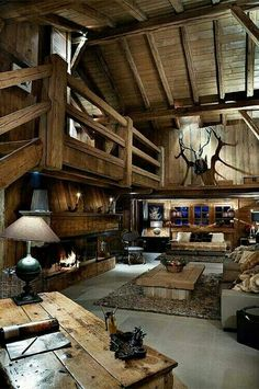 Rustic Man Cave Idea