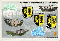 Alle verfügbaren Vogtland-Motive auf einen Blick! Mehr unter www.shirtandmore.net