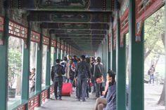 Pékin, la longue galerie au palais d'Eté