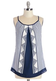 Coastal Breeze Top. Take this printed tank top out for a seaside lunch or laid-back cocktail! #modcloth