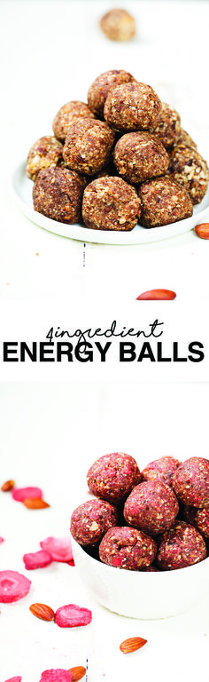4 different versions of our favorite energy balls (each made with only 4 ingredients!). These are delicious and perfect for pre or post workout snacking.