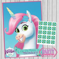 INSTANT DOWNLOAD  Nella The Princess Knight  Pin The Flower