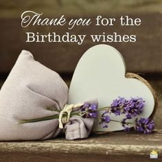Thank you for the birthday wishes.