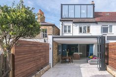 Contemporary rear kitchen extension and modern loft conversion