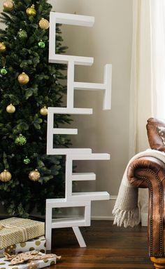 DIY Decor: Decorative Stocking Holder on a Rustic Mantel