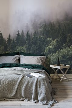 It would be too easy hitting the snooze button in a bedroom like this!
