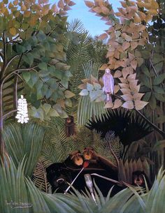The Merry Jesters by Henri Rousseau - Canvas Art Print Canvas Art For Sale, Canvas Art Prints, Manet, Rembrandt, Henri Rousseau Paintings, Magic Realism, Fantasy Illustration, Famous Artists, Art Reproductions