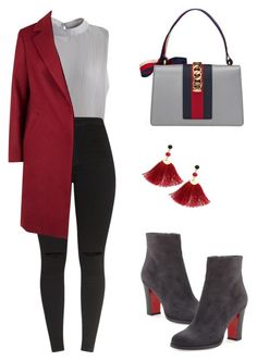 Untitled #516 by rnuhiji on Polyvore featuring polyvore fashion style Chicwish Christian Louboutin Gucci Shashi clothing