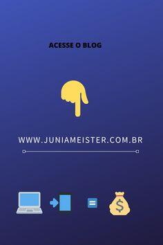 Conheça o blog receba dicas toda semana ...  www.juniameister.com.br Digital Marketing, Blog, Getting To Know, Tips, Blogging