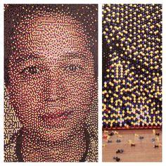 Pushpin portrait of Pinterest founder, Ben Silbermann. Art by Eric Daigh Push Pin Art, Ben Silbermann, Concept, Crafts, Portraits, Manualidades, Head Shots, Handmade Crafts