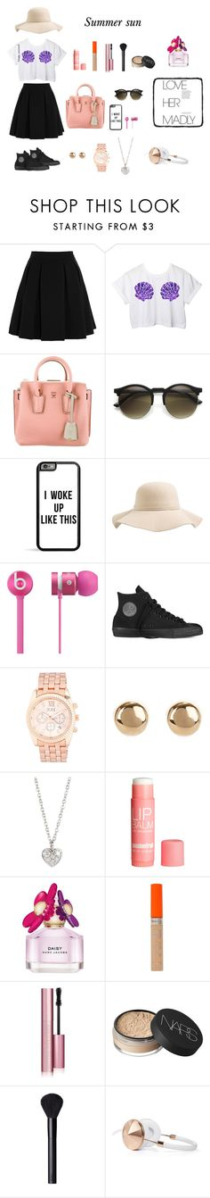 """""""Summer sun"""" by hanwilloughby ❤ liked on Polyvore featuring By Malene Birger, Disney, MCM, S'well, Beats by Dr. Dre, Converse, Forever 21, Jules Smith, Finn and H&M"""