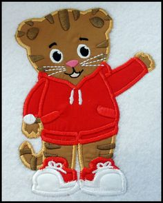Tiger Boy Applique Embroidery Design. $5.00, via Etsy.