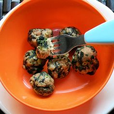 Toddlers will enjoy these Spinach and Turkey Meatballs as-is, and adults will love them with marinara sauce over pasta or in a sub sandwich!